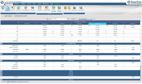 Screenshot #1 of TimeTrex Payroll and Time Management / Windows